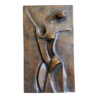 Abstract Modernist Bronze Wall Sculpture Tony Padilla For Sale