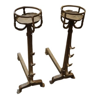 18th Century French Andirons - A Pair For Sale