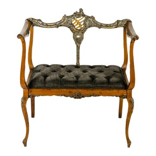 Antique French Entry Bench For Sale