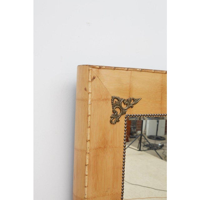 Pair of Bamboo Mirrors With Book Motif For Sale - Image 10 of 12