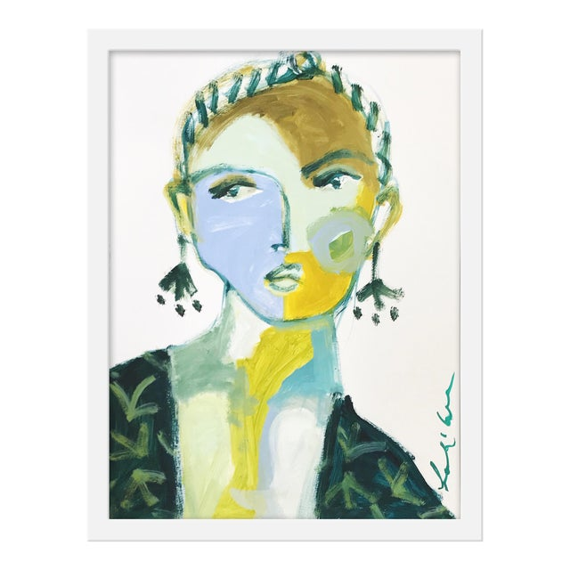 "Small ""Mirella"" Print by Leslie Weaver, 15"" X 20"" - Image 1 of 2"