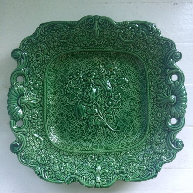Antique English Majolica Plate - Image 2 of 4