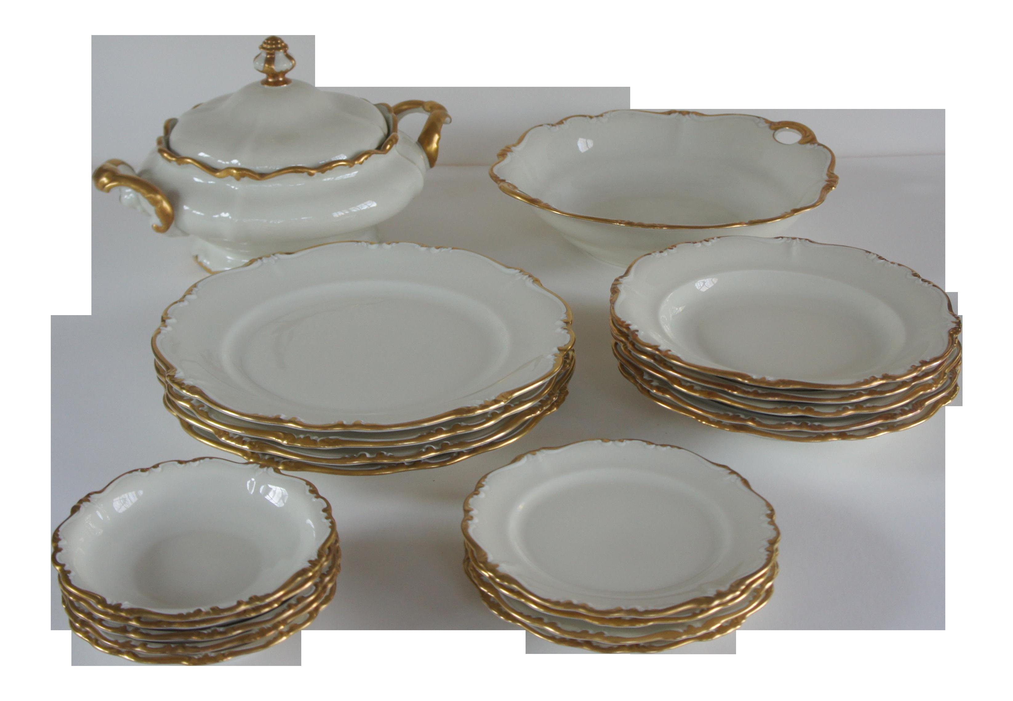 Rosenthal Pompadour Baroque Gold Dinnerware Set - Service for 4 Plus Extras  sc 1 st  Chairish & Rosenthal Pompadour Baroque Gold Dinnerware Set - Service for 4 Plus ...