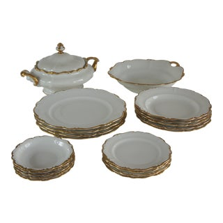 Rosenthal Pompadour Baroque Gold Dinnerware Set - Service for 4 Plus Extras