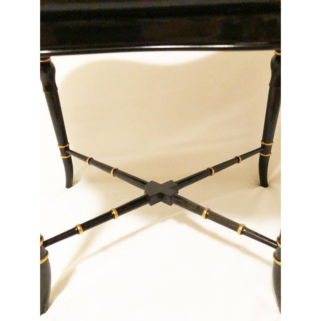 Chinoiserie Karges Furniture Black Lacquer Side Tables - a Pair For Sale In Columbus - Image 6 of 11