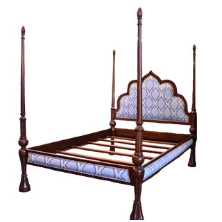 Carved 4 Poster Queen Bed