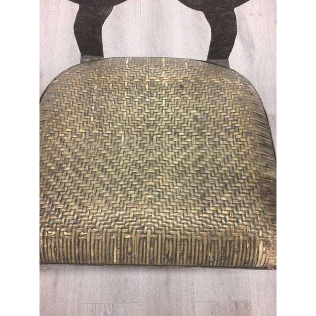 1920s Hand-Forged Iron & Rattan Armchairs - a Pair For Sale - Image 5 of 13