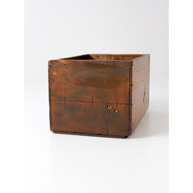 Vintage wooden apple crate box chairish for Vintage apple boxes