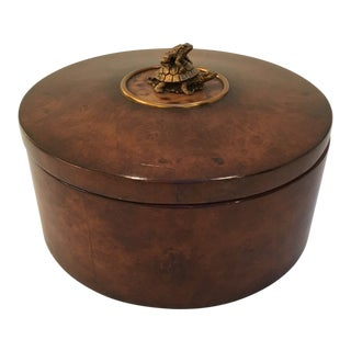 Turtle and Frog Burled Wood Box For Sale
