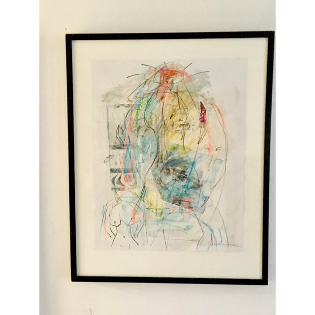 """Abstract Expressionism Abstract Female Nude """"Women's Strength"""" by Ellen Reinkraut For Sale - Image 3 of 6"""