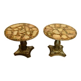 Arturo Pani Abalone Shell Tables, Pair For Sale