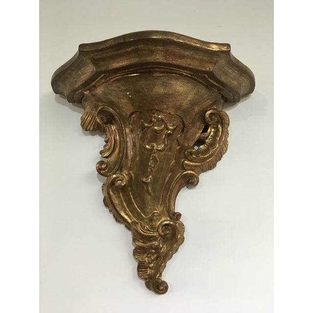 Mid 19th Century 19th Century Rococo Gilt Wall Shelves - a Pair For Sale - Image 5 of 12