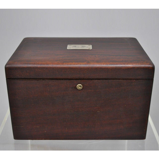 Early 20th Century Antique Mahogany Cigar Humidor For Sale - Image 11 of 11