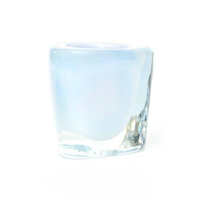 Italian Murano Opalescent Sommerso Glass Vessel/Small Vase For Sale In Miami - Image 6 of 10