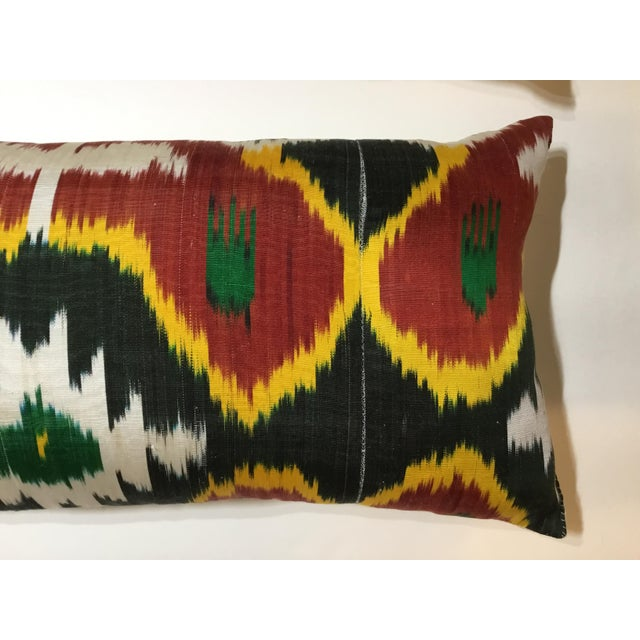Silk Ikat Lumbar Pillows - a Pair For Sale In Miami - Image 6 of 13