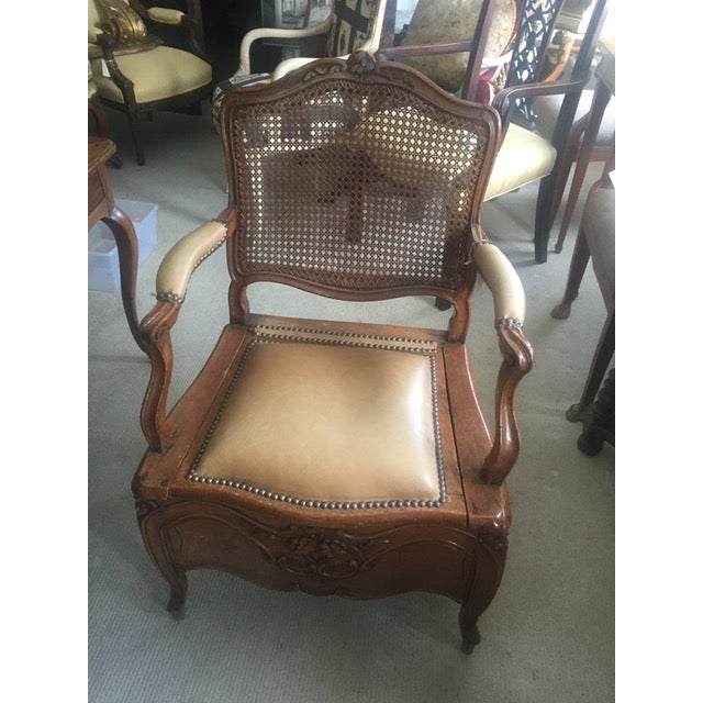18th Century French Country Walnut Commode Potty Chair For Sale - Image 12 of 12
