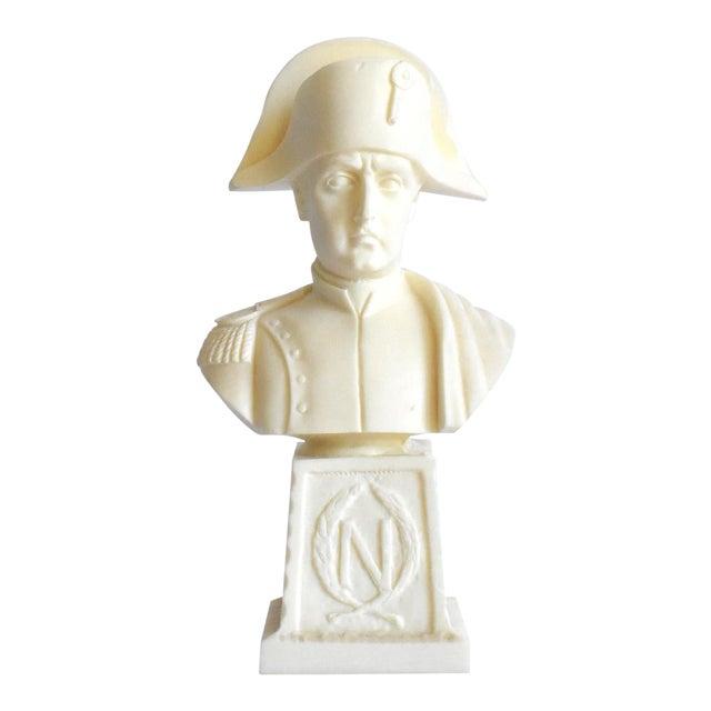 Vintage Italian Resin Napoleon Bust on Pedestal For Sale