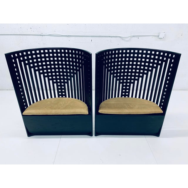 Charles Rennie Mackintosh Charles Rennie Mackintosh Willow Chairs - a Pair For Sale - Image 4 of 13