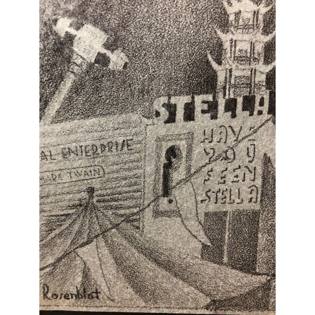 Americana 1915 Pencil Drawing San Francisco World's Fair For Sale - Image 3 of 6