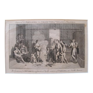 Original 1780 British Copperplate Print, Divorce Ceremony For Sale