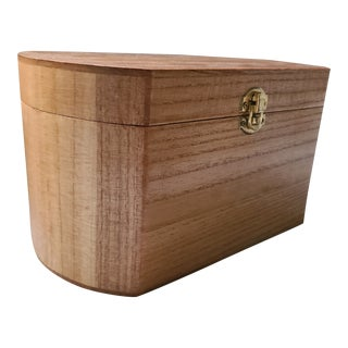Paulownia Hardwood Oval Wooden Box For Sale