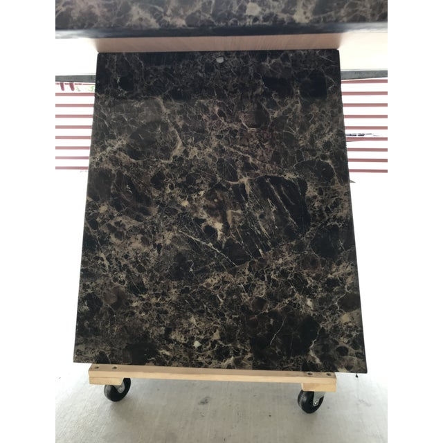 Mid-Century Modern Maurice Villency Style Marble Dining Table For Sale - Image 3 of 13