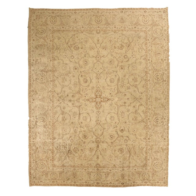 1960s Vintage Persian Kerman Floral Design Rug - 9′10″ × 12′6″ For Sale