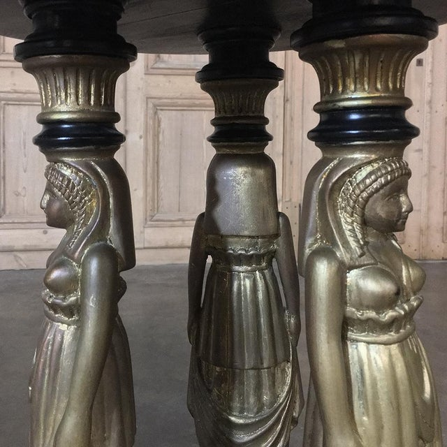 Wood 19th Century Second Empire Caryatid Center Table For Sale - Image 7 of 12