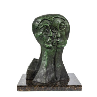 MId-Century Modern Bronze Abstract Sculpture For Sale