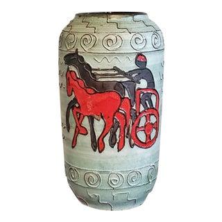 Scheurich Floor Vase Nr. 546/50 With Roman Charioteer For Sale