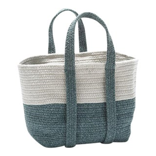 Farmhouse Square Basket 16x14x16 Teal