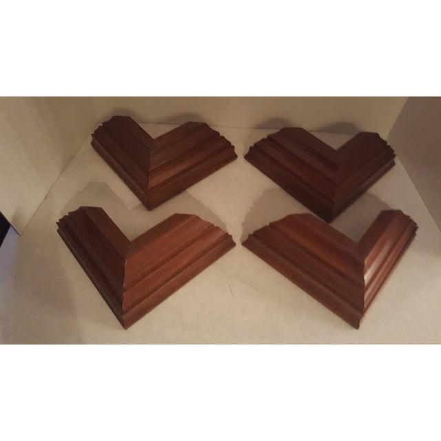 1960s Vintage Wood Wall Mount Candle Holders - Set of 4 For Sale - Image 5 of 7