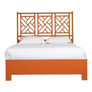 Chippendale Bed Queen - Orange For Sale