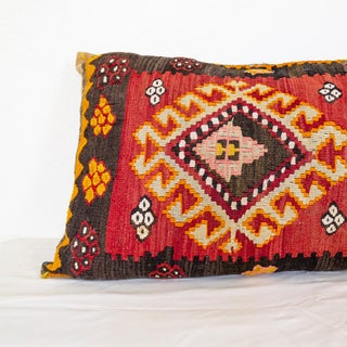 Kilim Lumbar Pillow | Large Tribal Boho Preview
