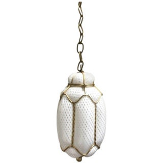 Seguso Murano Handblown Cage Light Pendant For Sale