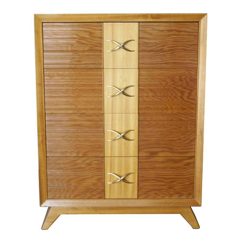Paul Frankl Four Drawer Dresser For Brown Saltman