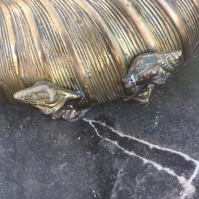 Vintage Brass Nautilus Shell Planter - Image 6 of 8