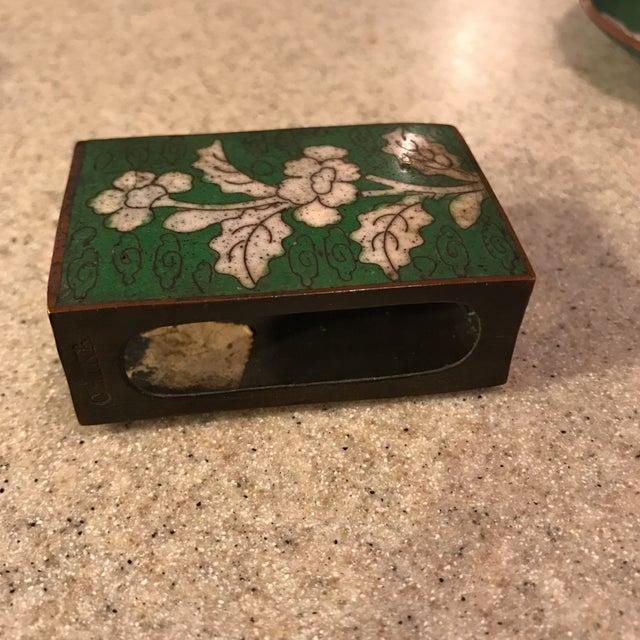 Cloisonne Jar, Matchbook Case, & Tray - Image 8 of 11
