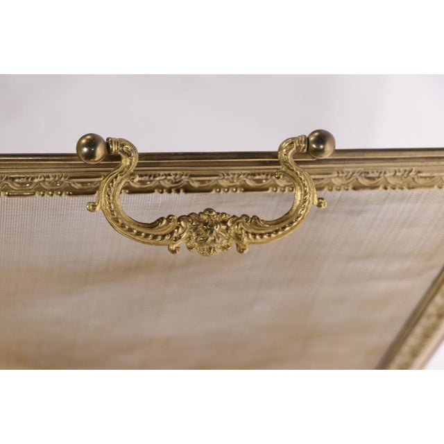 French Folding Fireplace Screen Spark Gard For Sale - Image 11 of 13