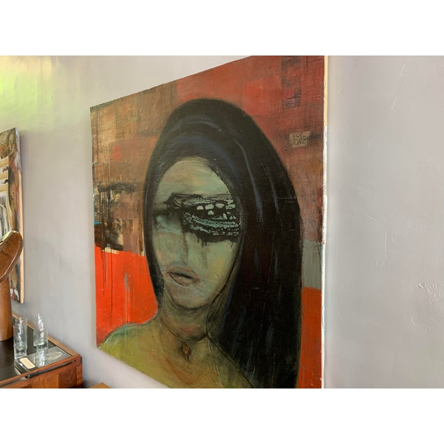 Contemporary Large James Swinson Acrylic on Plywood & Plaster Painting For Sale - Image 3 of 11