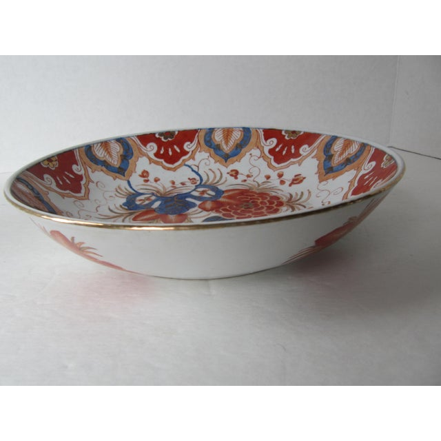 Asian Blue & Orange Chinese Bowl For Sale - Image 3 of 5