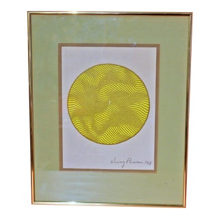 1960's Vintage Sphere Painting By Henry Pearson For Sale