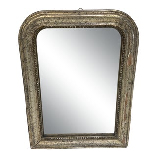 Mid 19th Century Antique Silver Louis Phillipe Wall Mirror For Sale