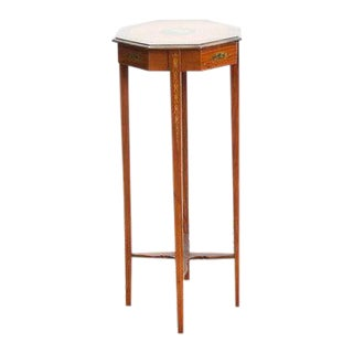 1890s Painted Satin Wood Stand For Sale