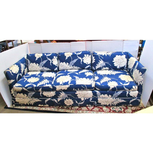 Pleasant Vintage Blue And White Floral Sofa Gamerscity Chair Design For Home Gamerscityorg