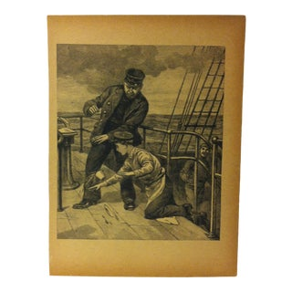"Antique Grand Union Tea Company Print, ""The Thief"", 1913 For Sale"
