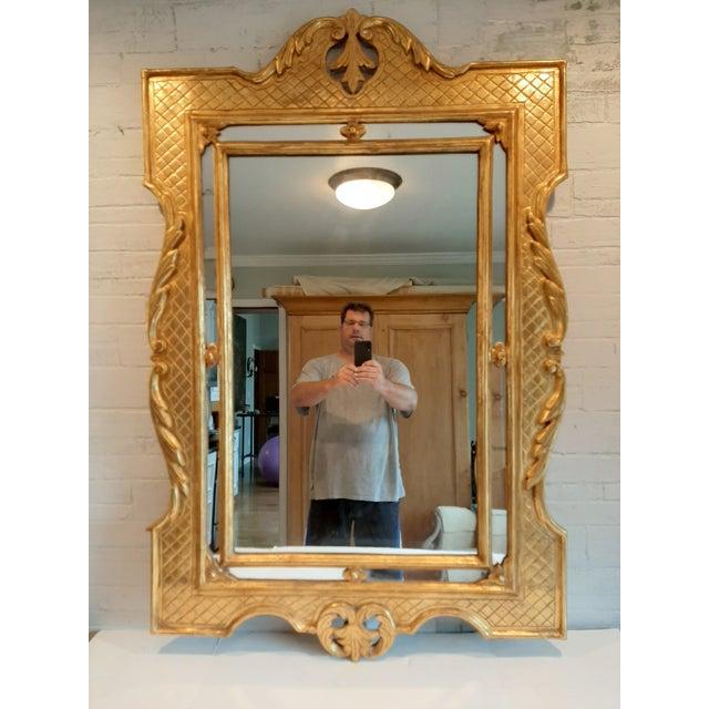 Italian Florentine Gilt Wood Mirror For Sale - Image 10 of 10
