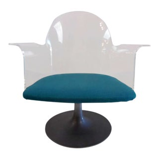 Vintage Lucite Tulip Chair For Sale