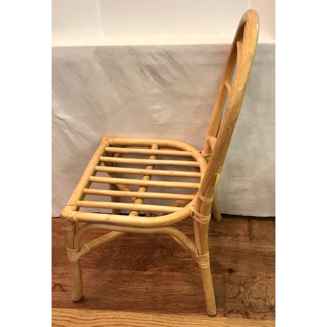 Vintage Mid Century Bamboo Chair For Sale - Image 4 of 10