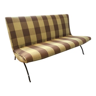 Rare 1960s Early Production Milo Baughman Scoop Settee for Thayer Coggin For Sale